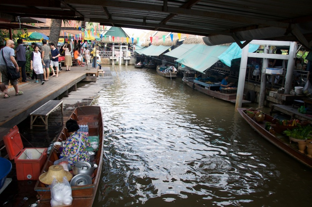 Boats at Taling Chan Floating Market, Bangkok