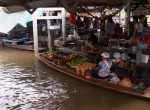 Food being prepared at Taling Chan Floating Market, Bangkok