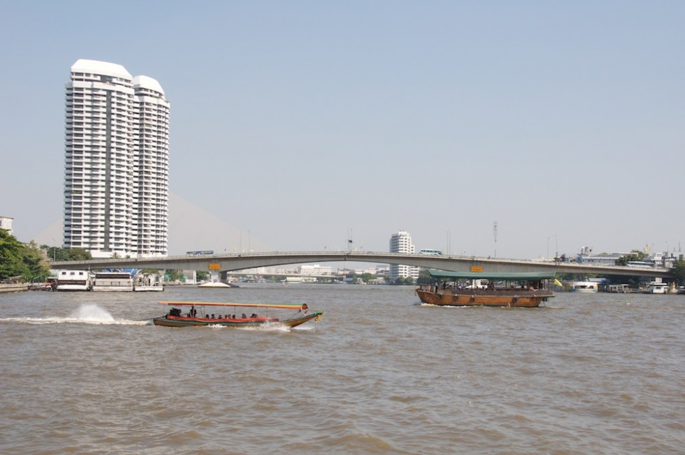 Longboat at river, Bangkok