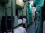 Inside of a sleeper train to Loas, Bangkok