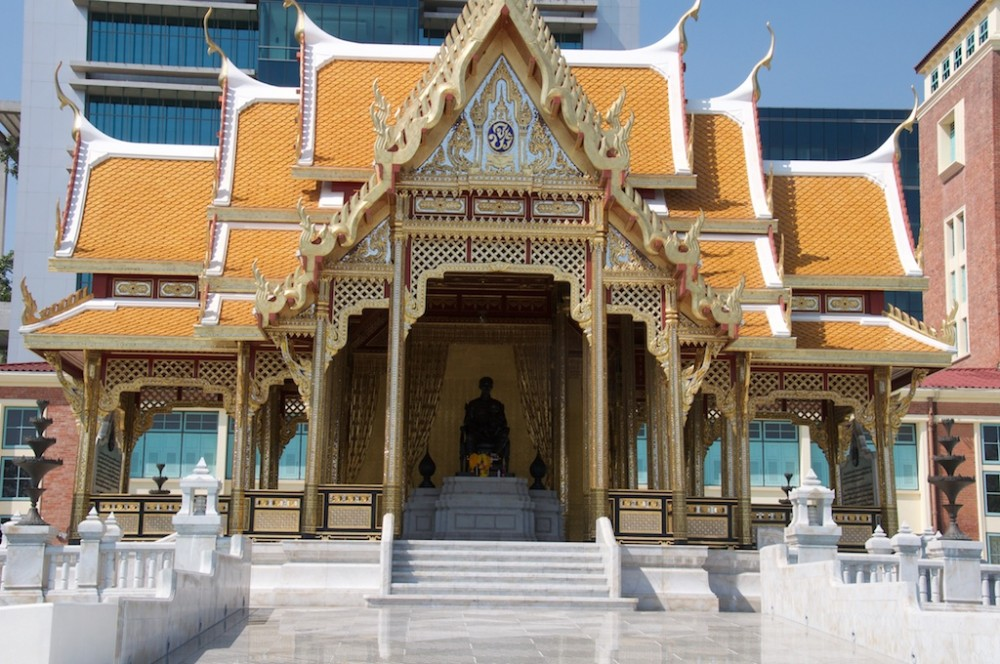 Temple at River front, Bangkok