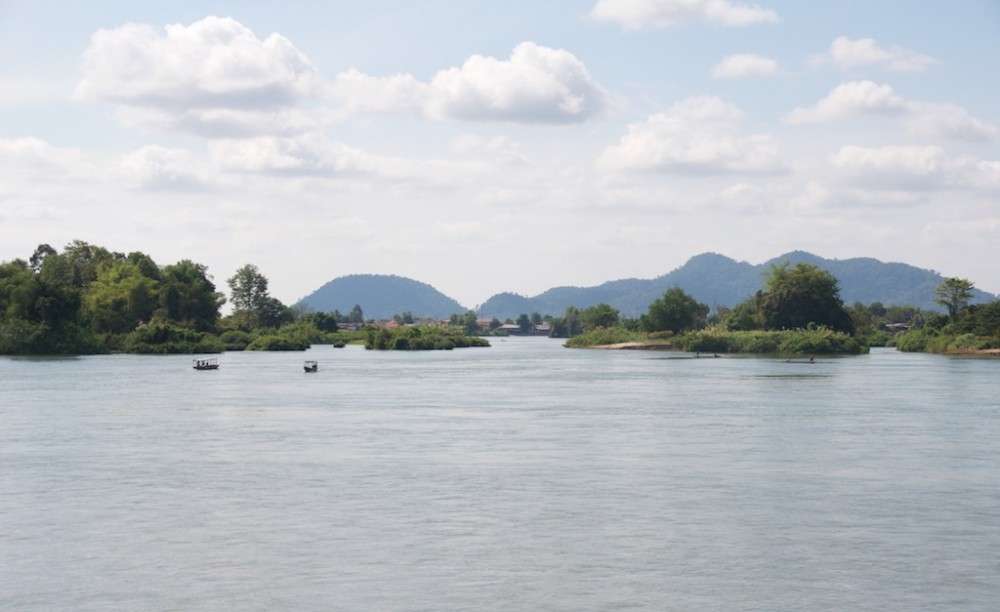 View of four thousand islands, Laos