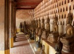 Thousands of buddha's in the walls of temple Sisaket