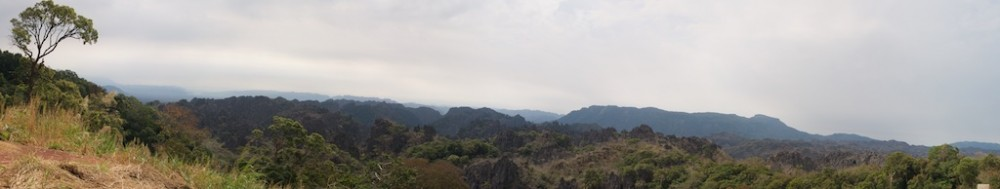 Panorama karst mountains