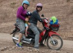 Family Roding on the motorcycle