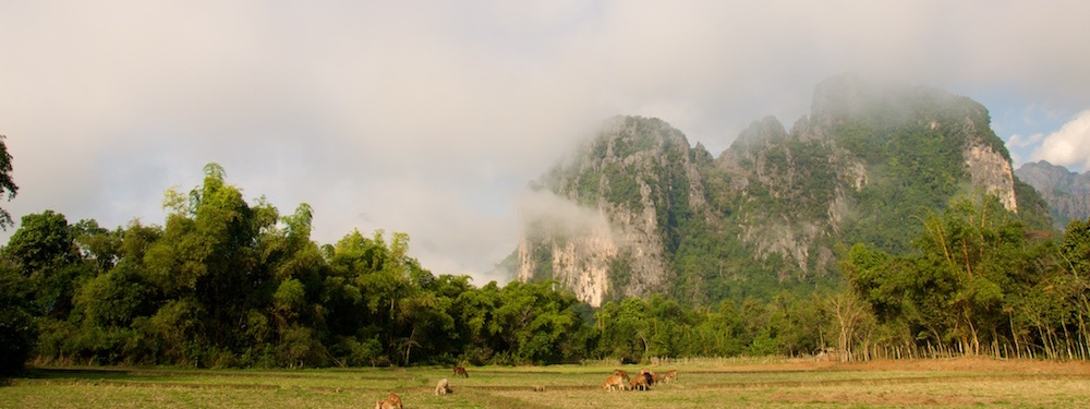 Karst mountains Vang Vieng